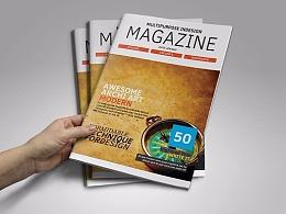 50页杂志周刊画册模板