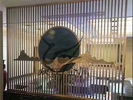 地产接招处不锈钢山水屏风隔断 金属工程制品承接厂家