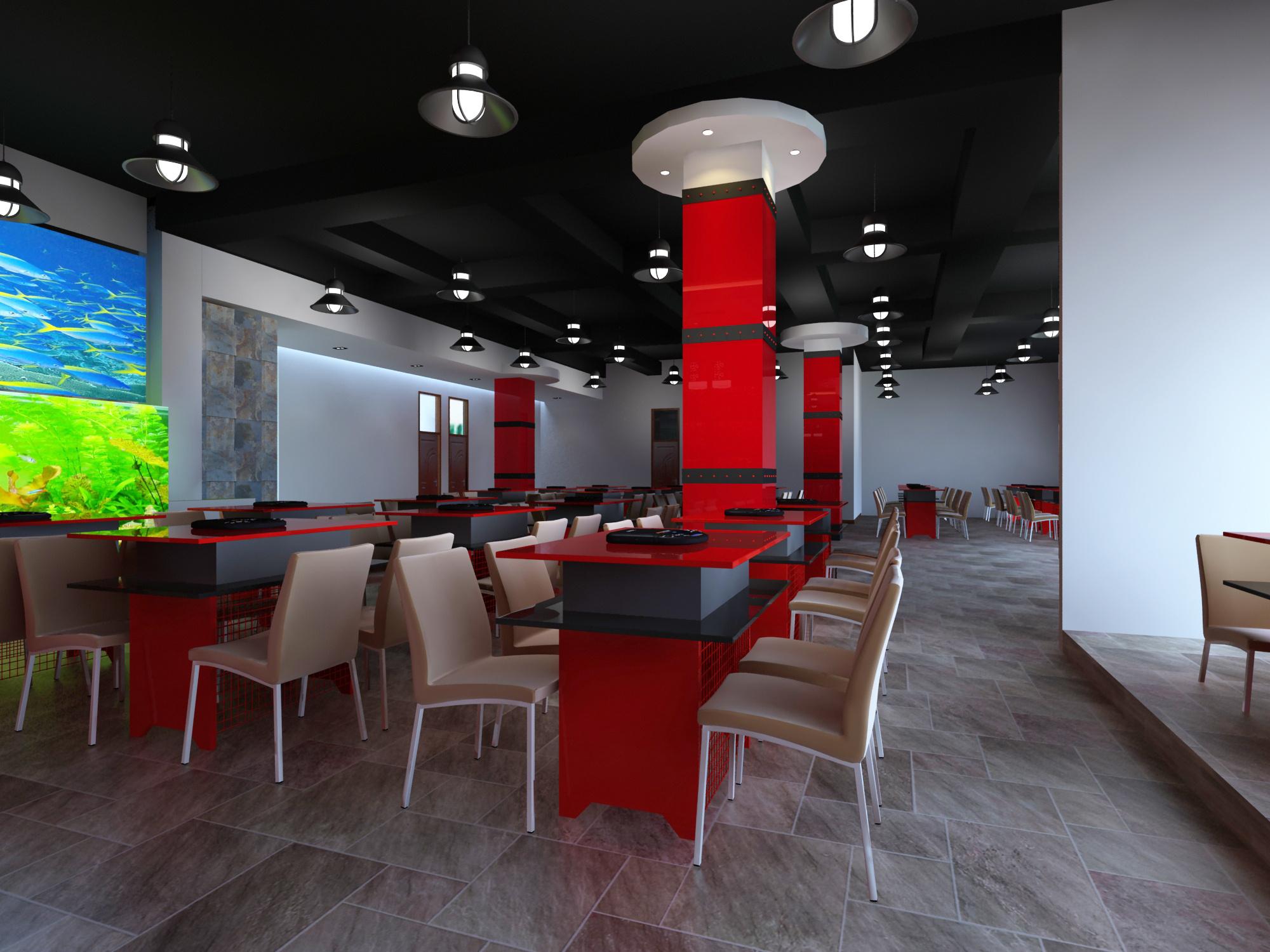 火锅店餐厅设计装修效果图 成都火锅店设计装修公司