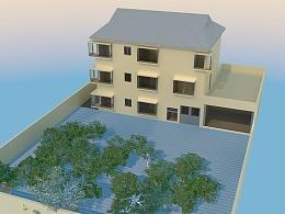 C4D建筑模型