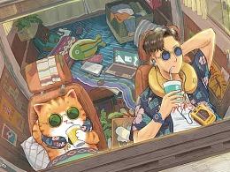 带上橘猫去旅行系列插画集