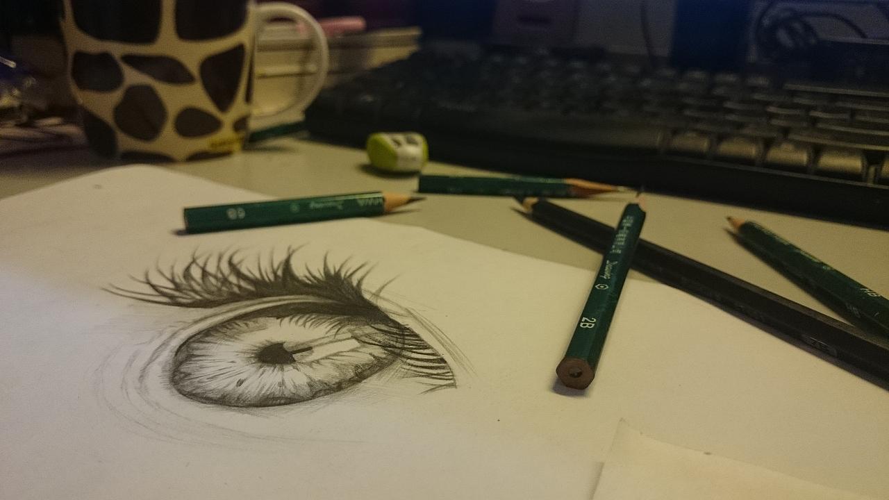 手绘临摹——眼眸