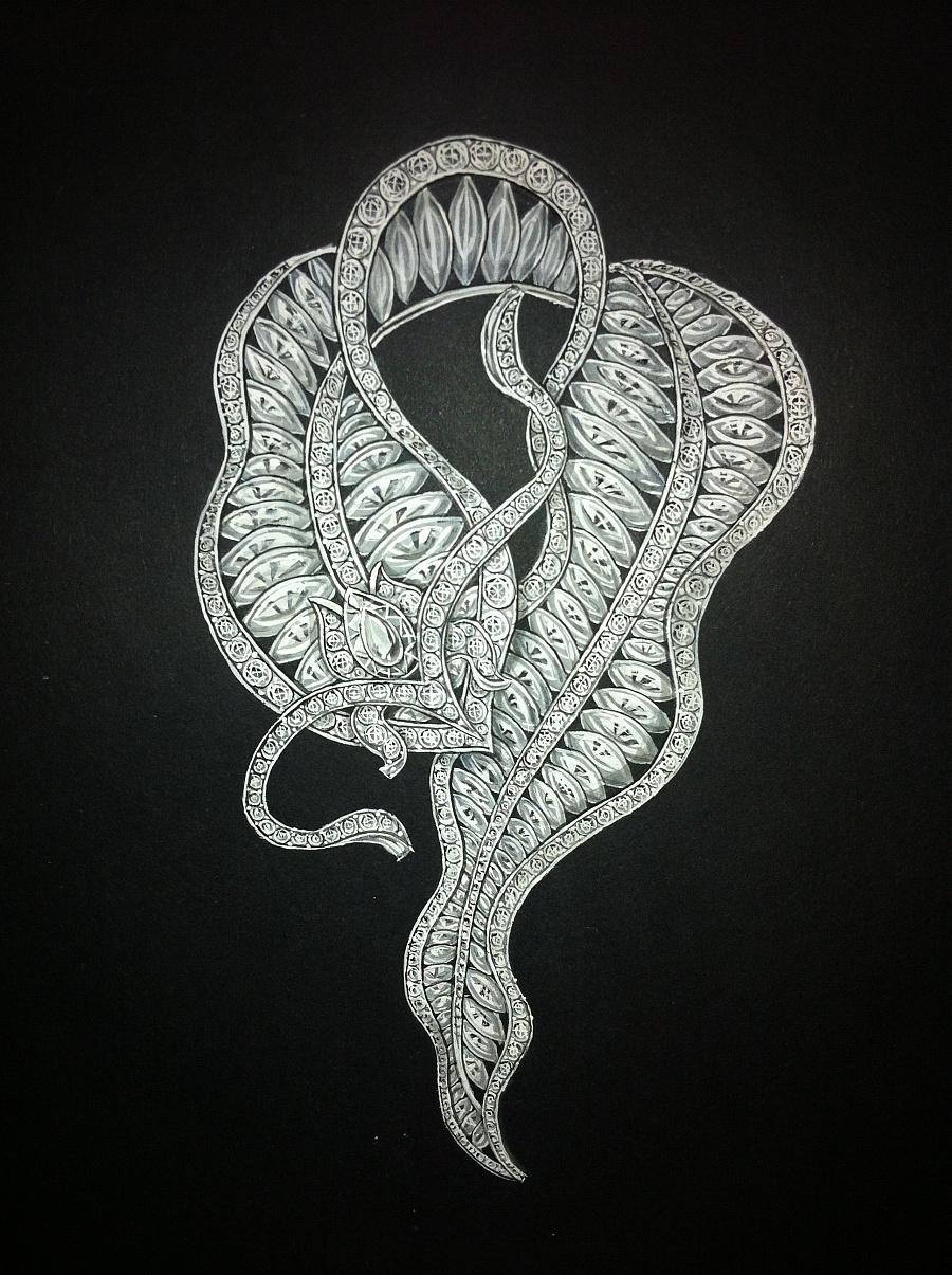 原创作品:一些珠宝手绘练习