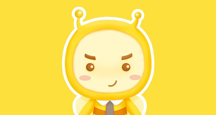 以蜜蜂为基础形象设计的表情包及延展图片