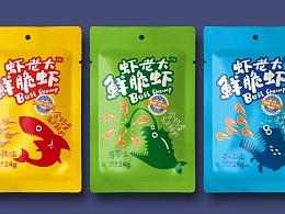 九款关于鲜脆虾的包装设计