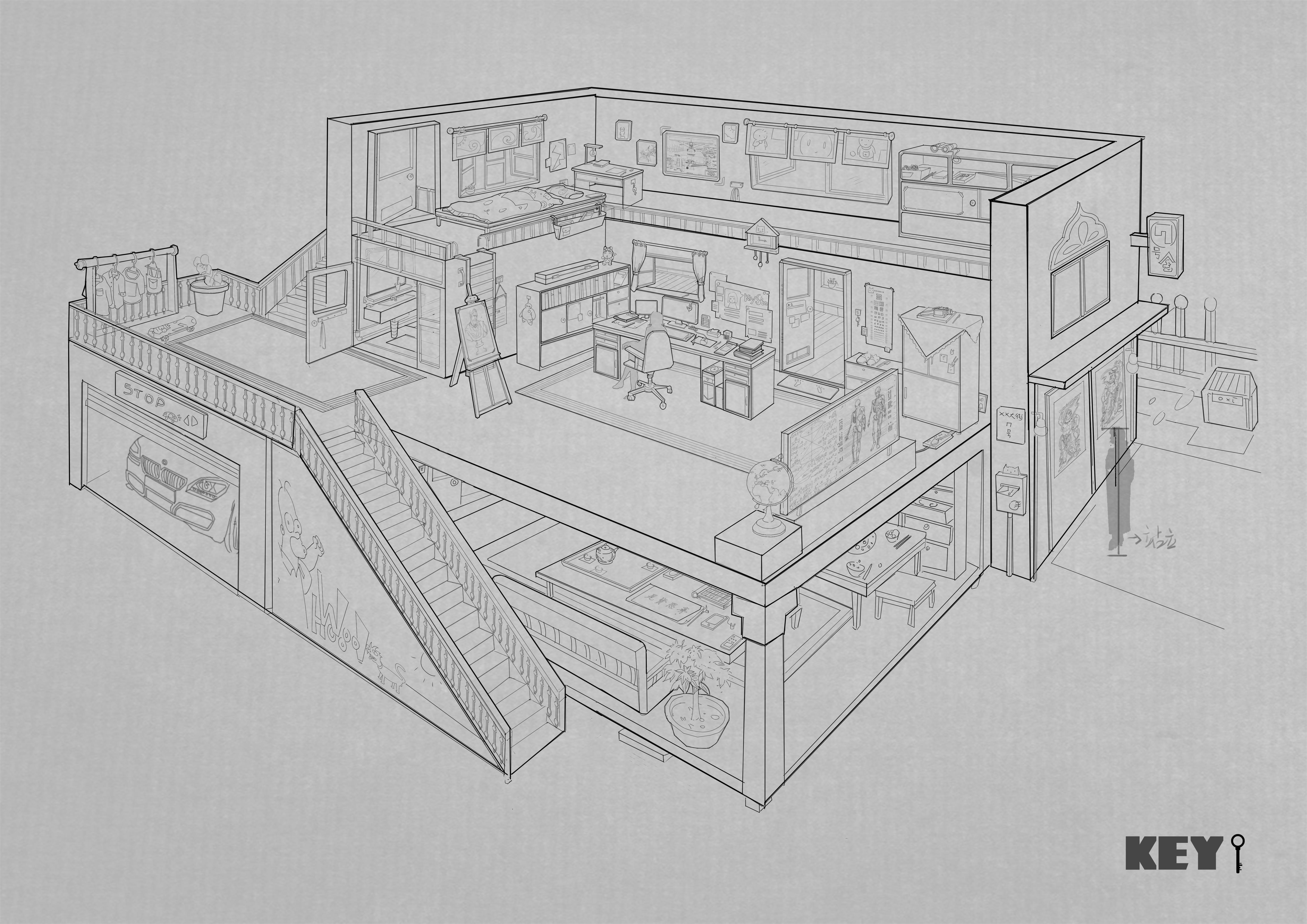 室内场景设计练习