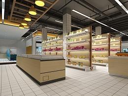 1992效果图工装超市出图效果图