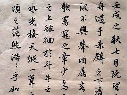 陕西程军书法——行书《赤壁赋》
