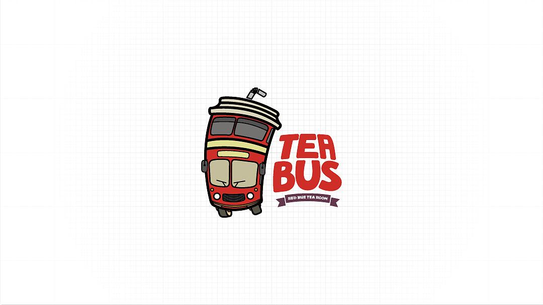 (连锁奶茶品牌)茶巴士logo设计图片