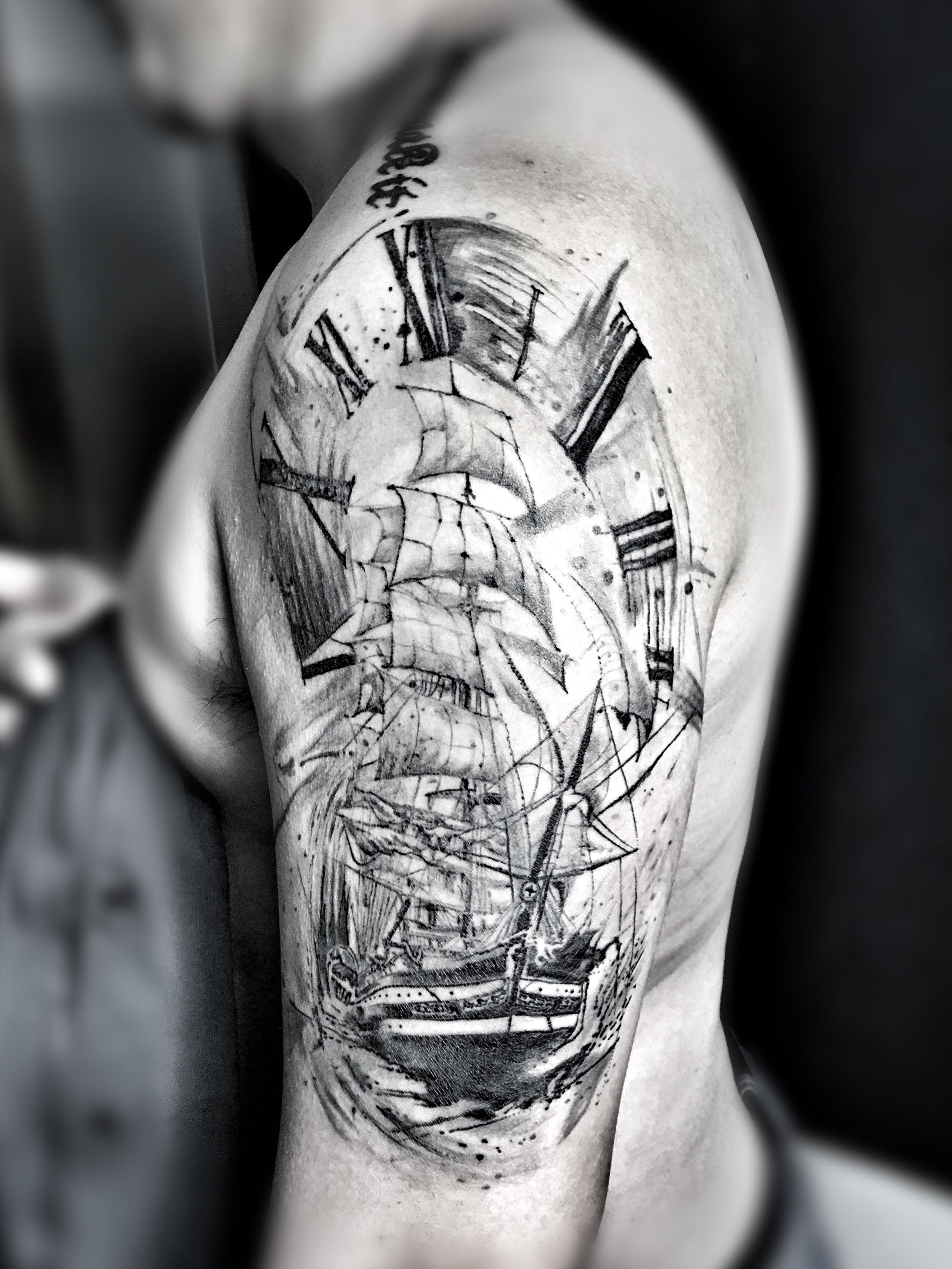 写意帆船纹身                           0京icp备11017824号-4 京图片