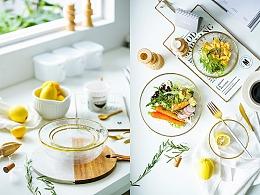金边玻璃碗