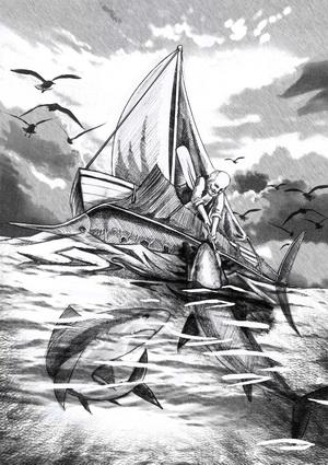 老人与海 黑白名著插图