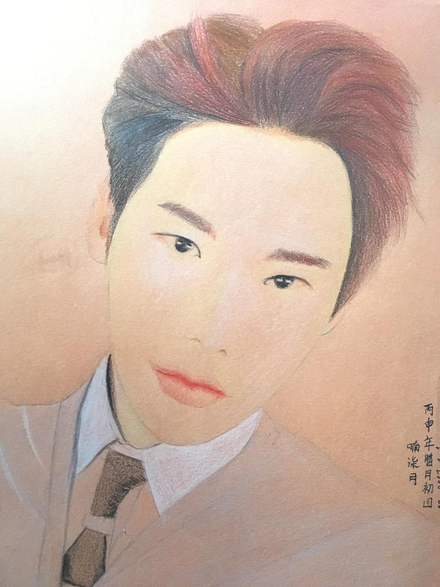 彩铅手绘李钟硕