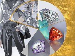 元素动力   干货 × 关于宝石&亮漆皮的画法