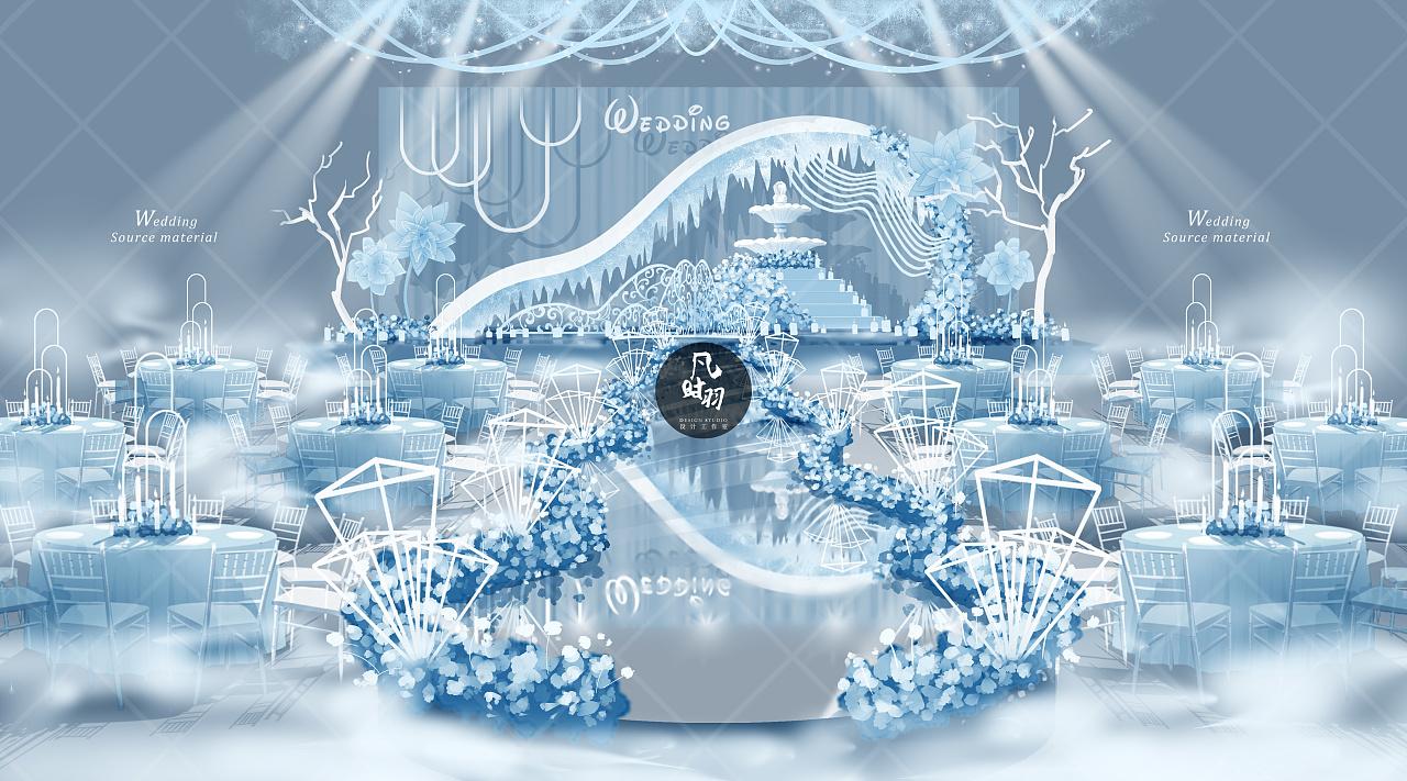 婚礼手绘 — 电脑 「冬日童话」