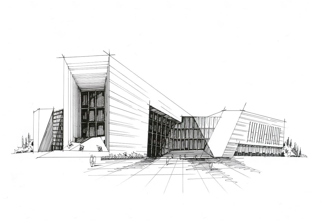 建筑画|纯艺术|钢笔画|小影的小影 - 原创作品 - 站酷