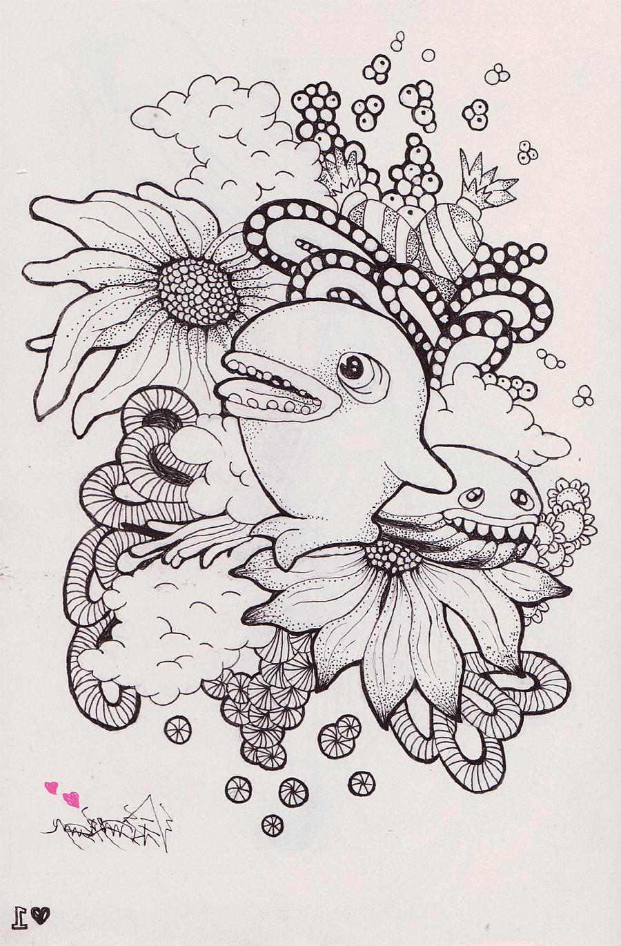 针管笔手绘|概念设定|插画|xpp520520