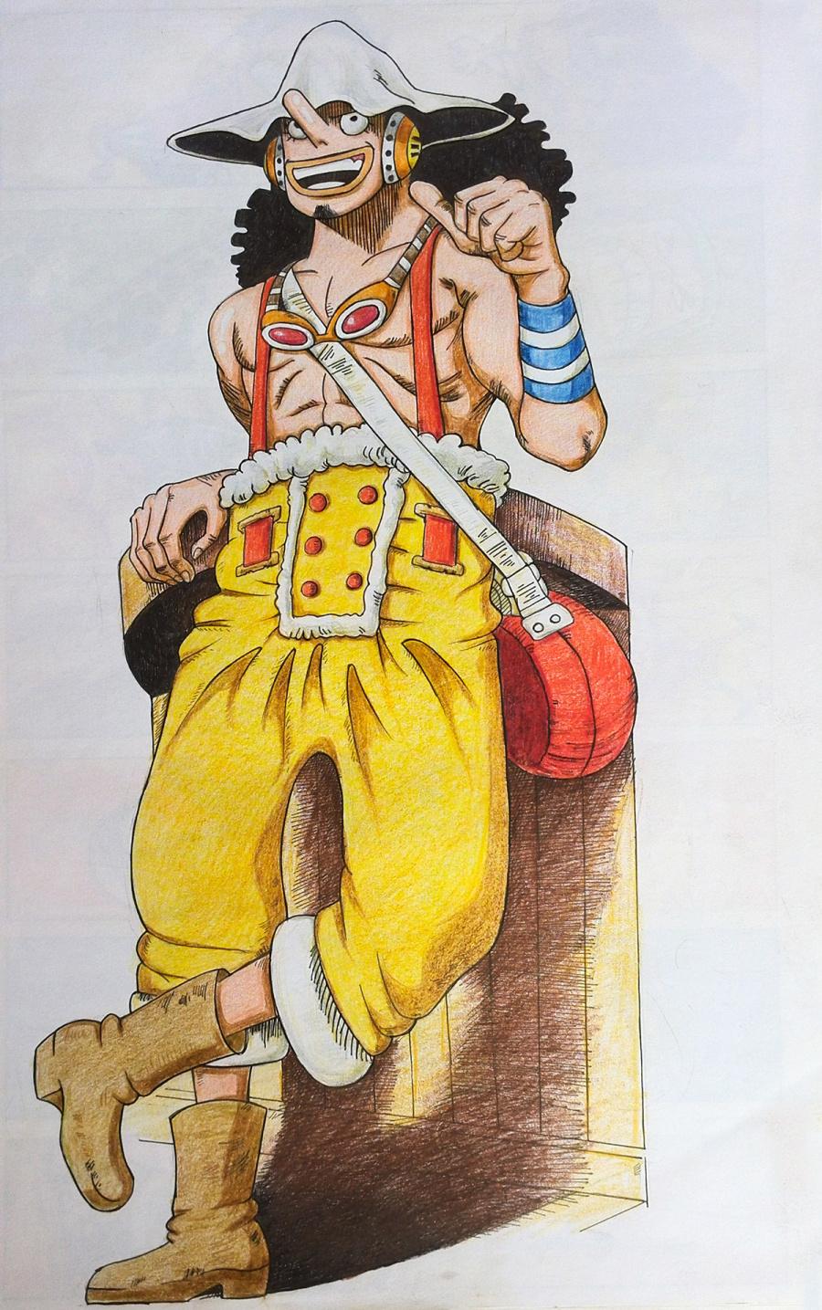 海贼王手绘②|单幅人物|动漫|隔壁老林Yb-原创漫画民国漫画图片