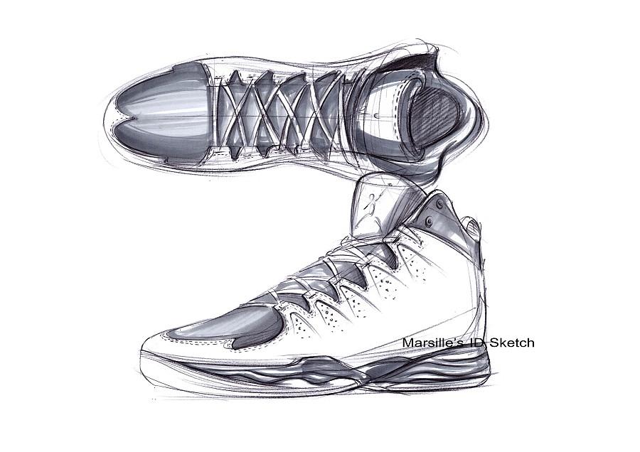 工业产品设计手绘之篮球鞋步鄹图~~马赛(mars)作品