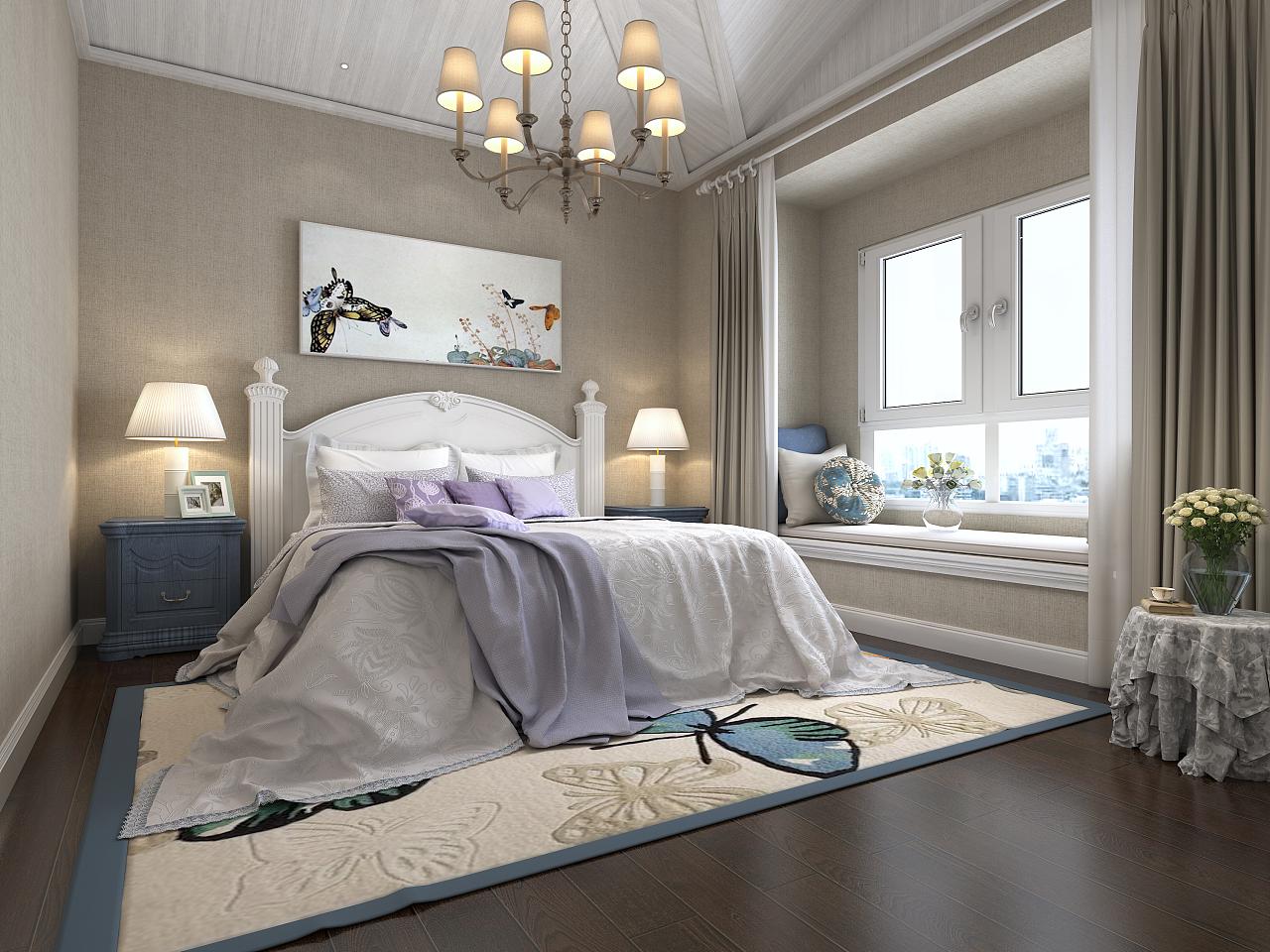 西班牙简约卧室|空间|室内设计|曹欹 - 原创作品