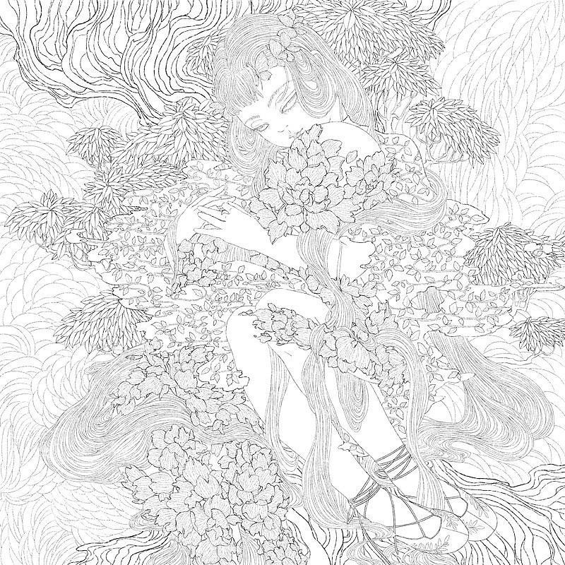 人物头发的笔刷在上次的作品中已经分享,这次分享树叶的勾线笔刷.
