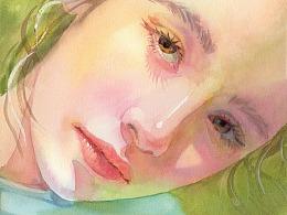 水彩人物——阳光灿烂大姐姐的绘画步骤