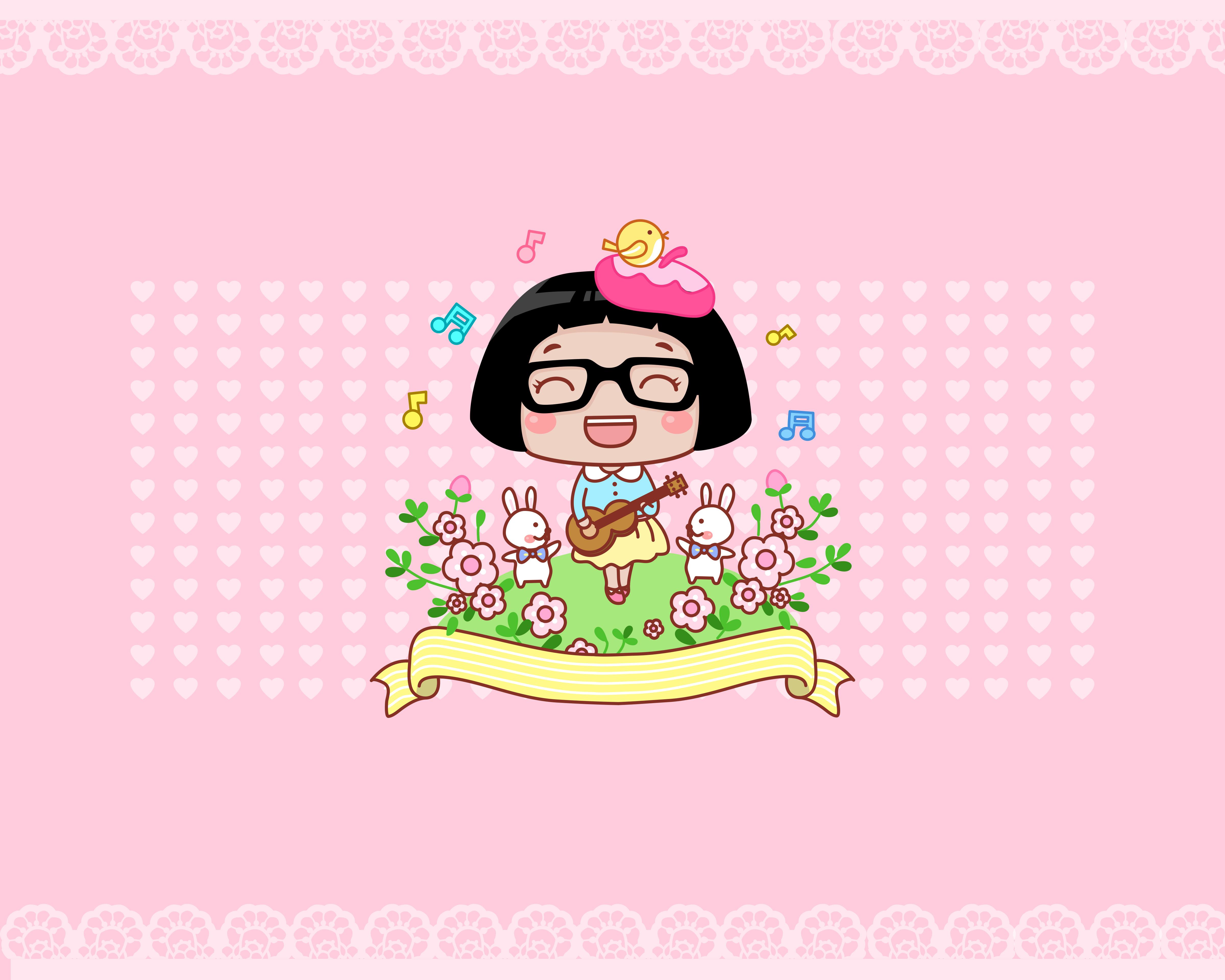 hello菜菜可爱卡通图片