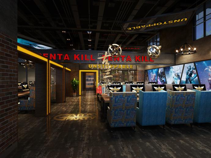 游戏派对网咖--德阳网咖装修设计|室内设计|标志设计公司大全空间图片