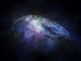 宇宙星空无线鼠标图片