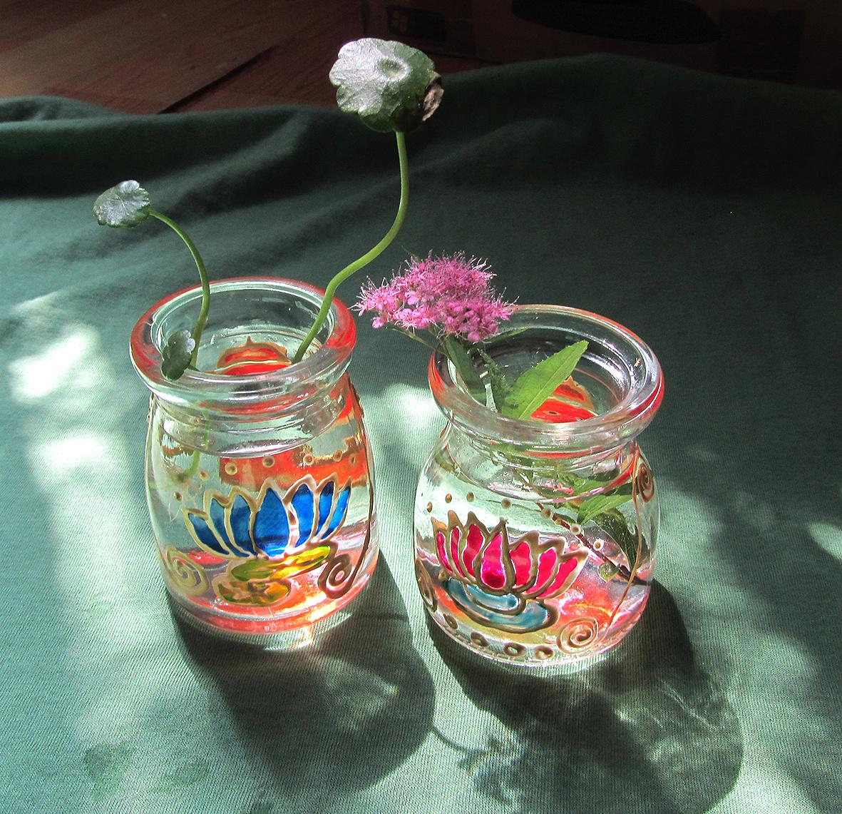 手绘玻璃瓶