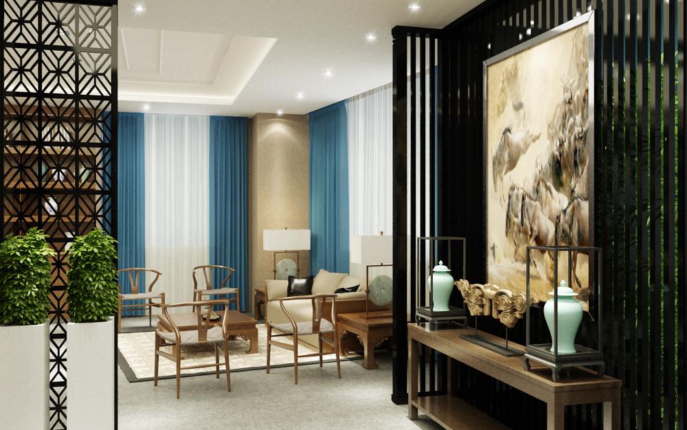 现代中式办公室 茶室