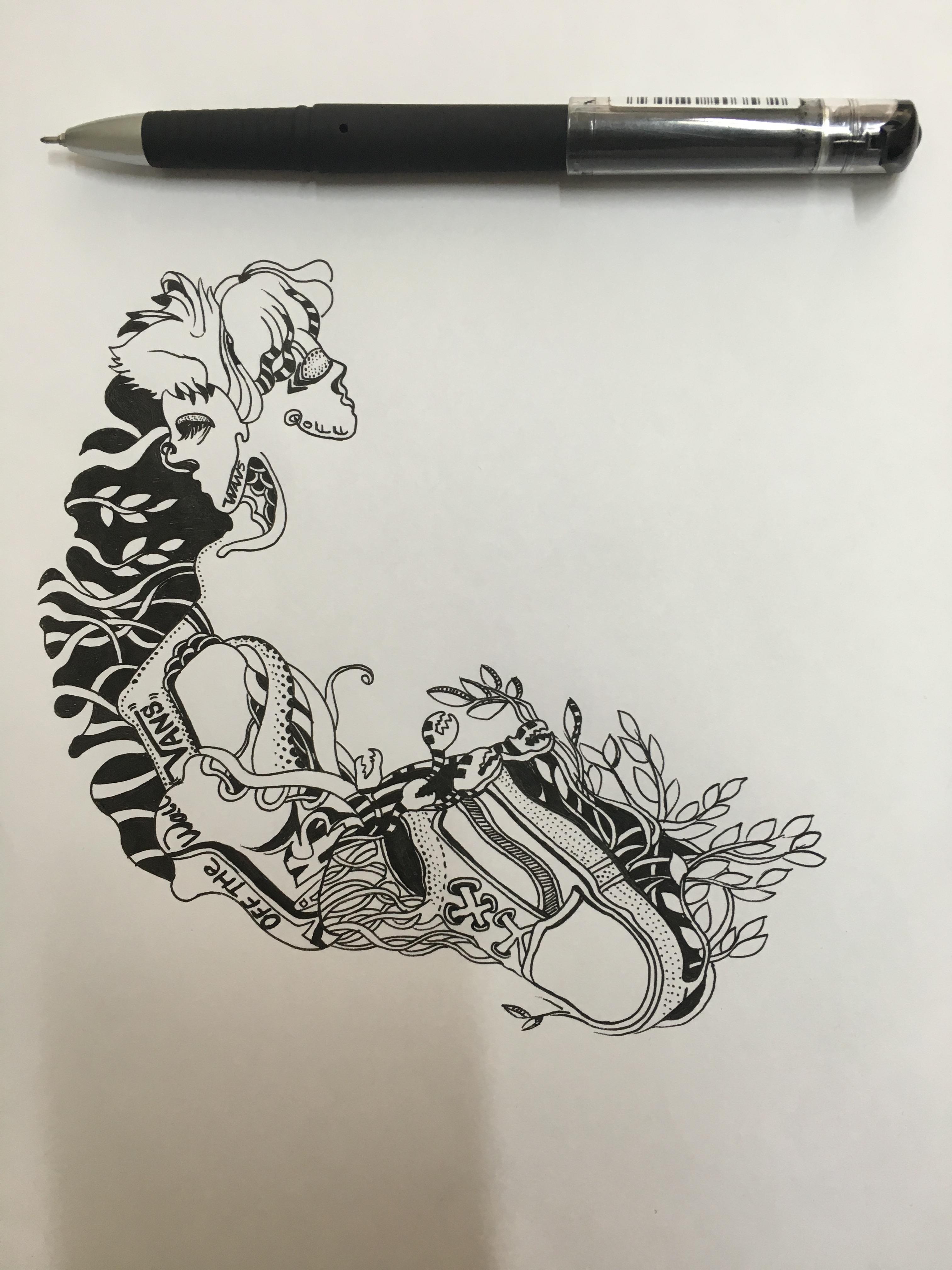 原创作品-vans插画手绘