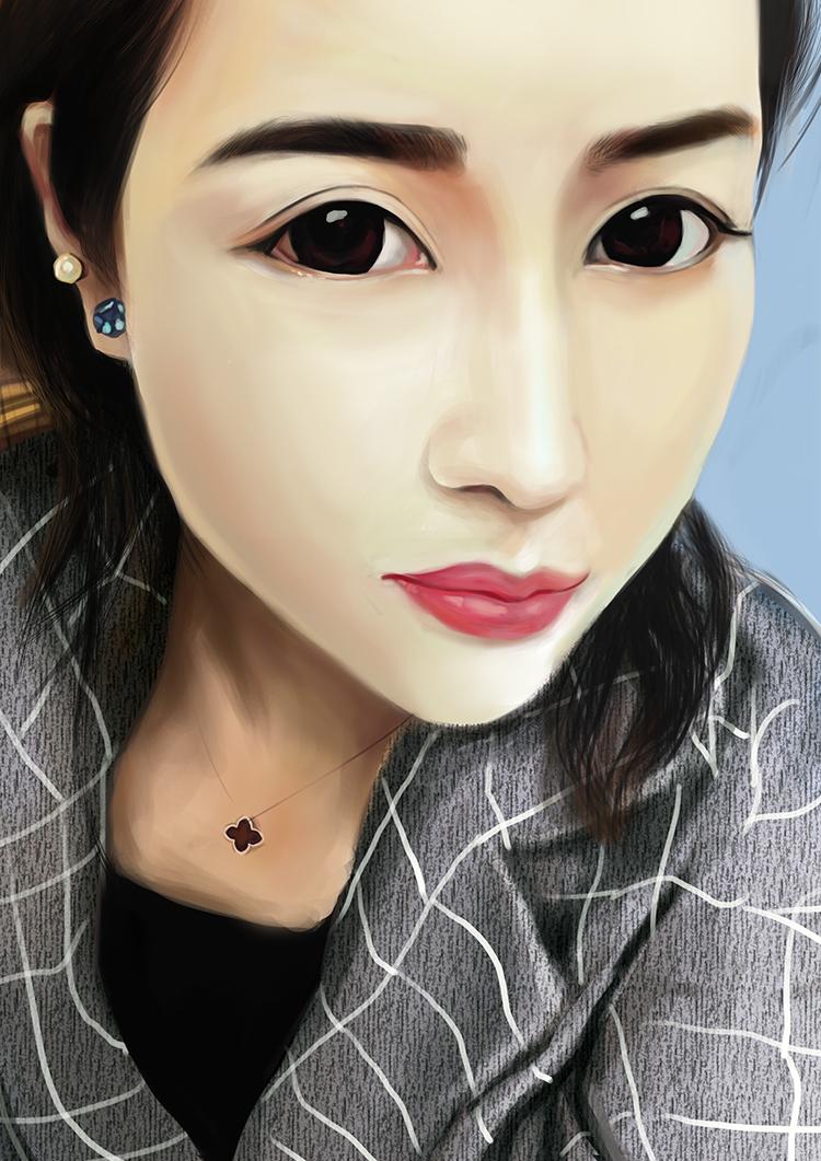最新的美女手绘|插画习作|插画|liuxingv1
