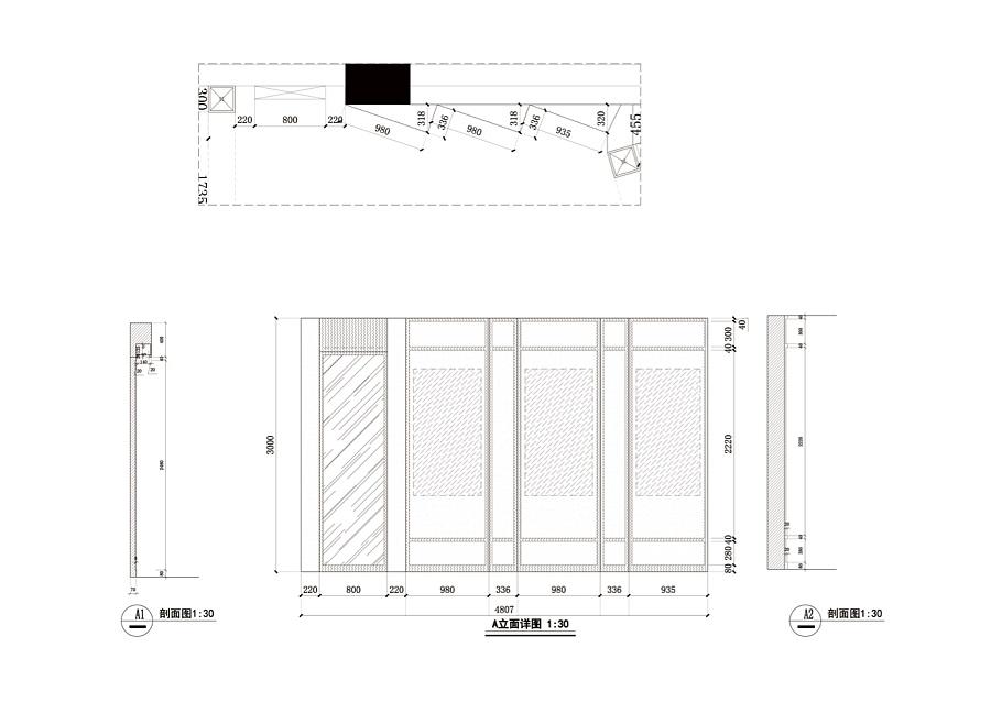 安徽农金展厅立面布局深化设计