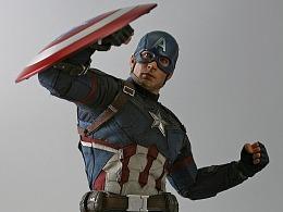 新改肌肉素体内战美国队长&复仇者联盟2美国队长