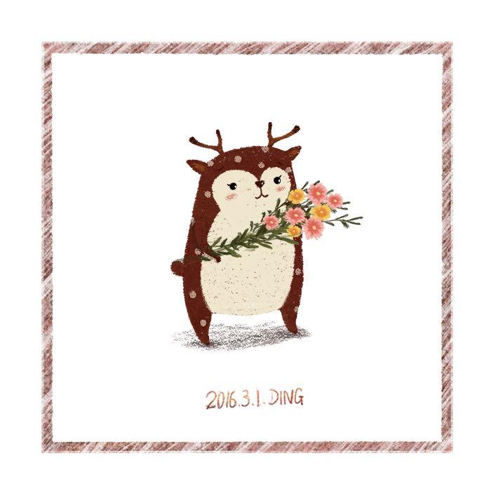 插画每日一图ps电脑手绘小动物4|儿童插画|插画|丁小
