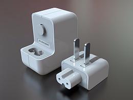USB手机充电头建模渲染效果图