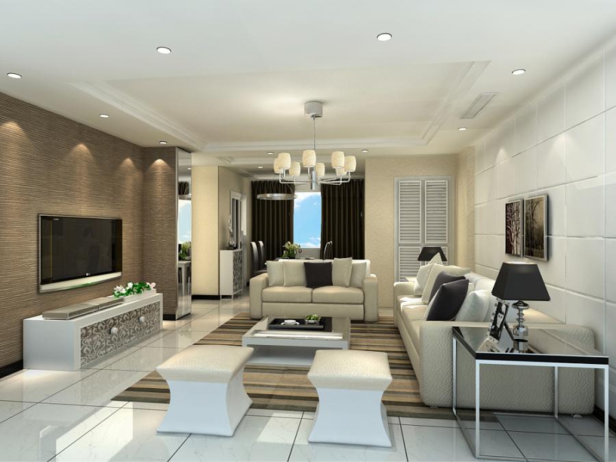 《小户型loft复式公寓》墙剖面3d效果图|室内设计||李图片