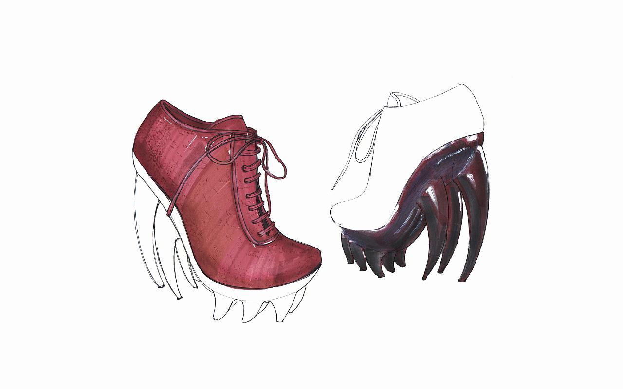 手绘- 高跟鞋