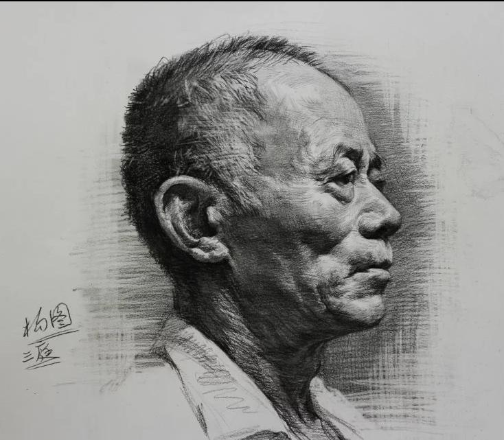 素描人物肖像 素描画 素描欣赏作品 素描图片