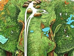 雨林古树茶--原生态系列包装插画之「万象」