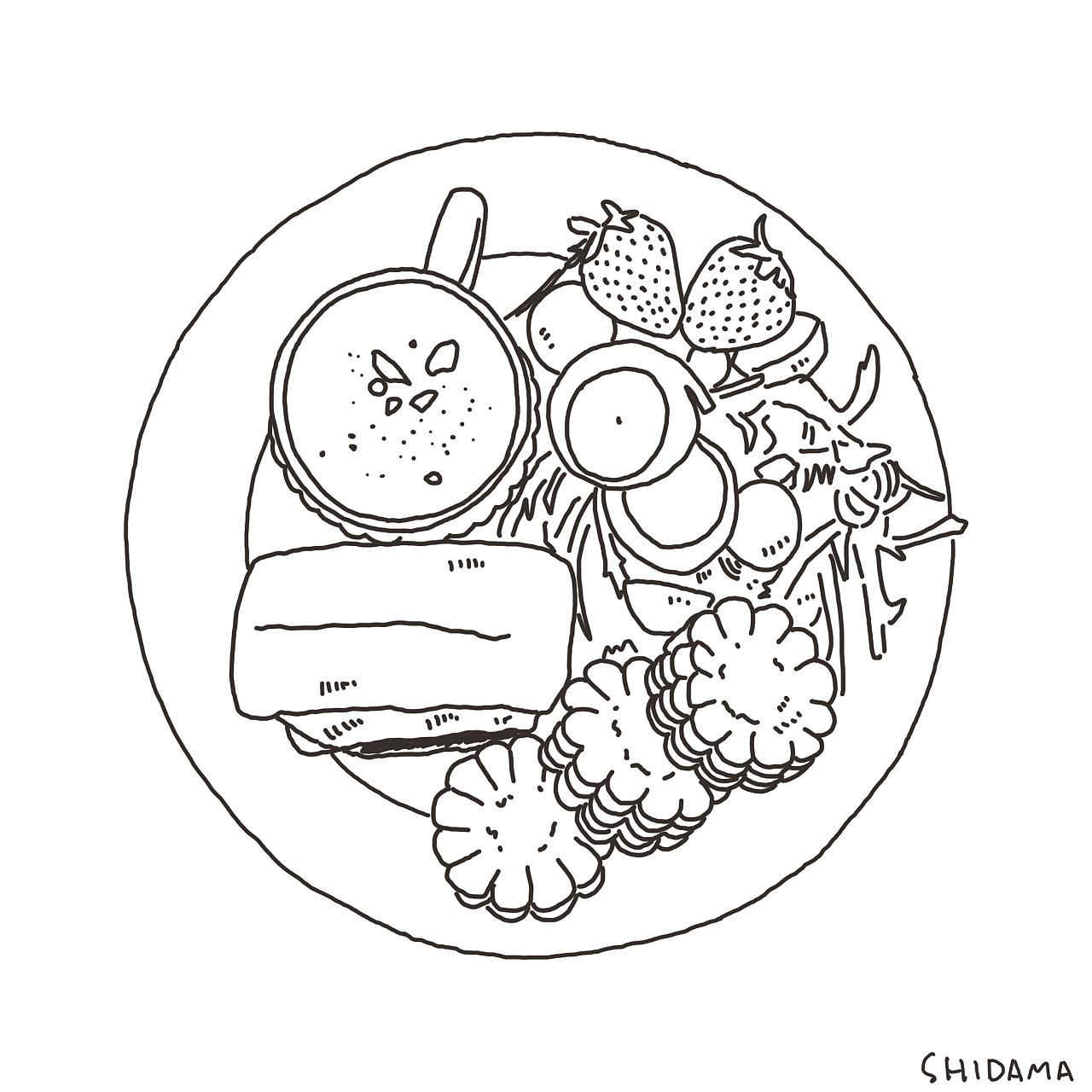 食物简笔画手绘