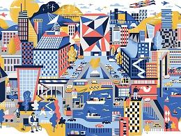 Karol创作的以City为主题的作品