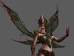 【原创 多图】游戏《虚幻争霸》角色Fey原画和皮肤