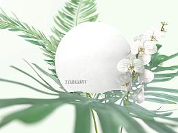 一款泳帽的宣传片视频 写实花朵部分的渲染 C4D制作