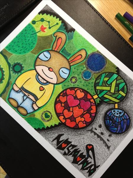 彩色铅笔手绘画稿