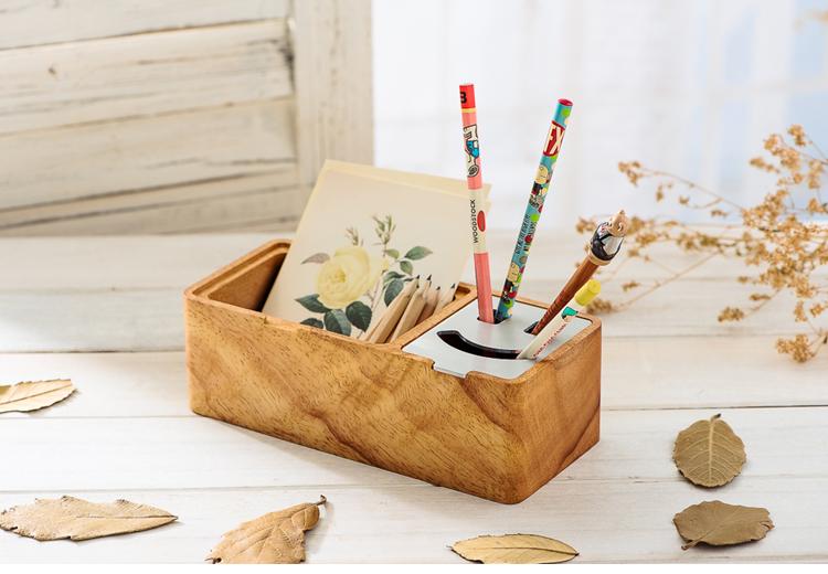 【一宅一朴】创意笔筒 桌面收纳盒图片