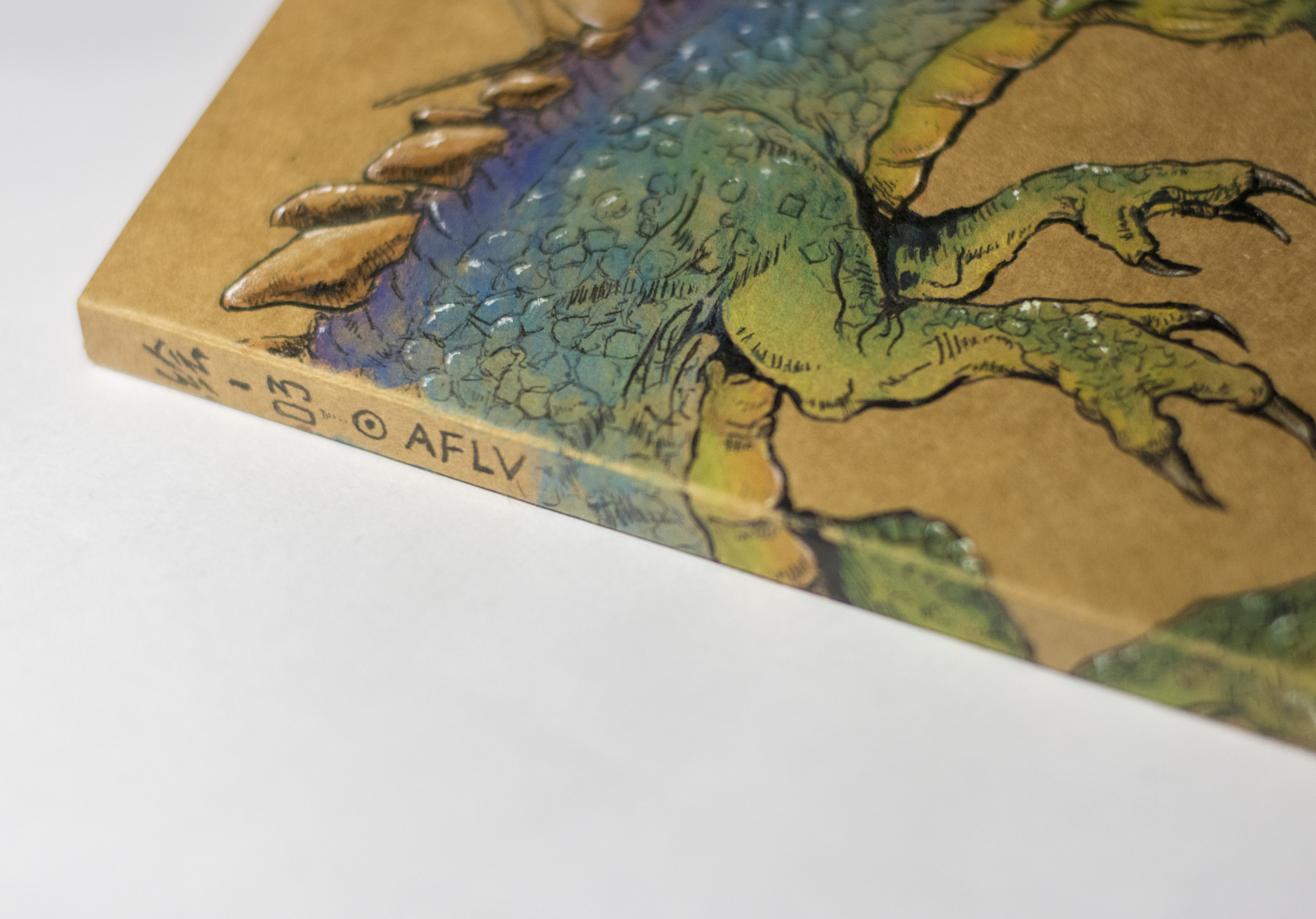 牛皮纸 水溶彩铅——绘制封面