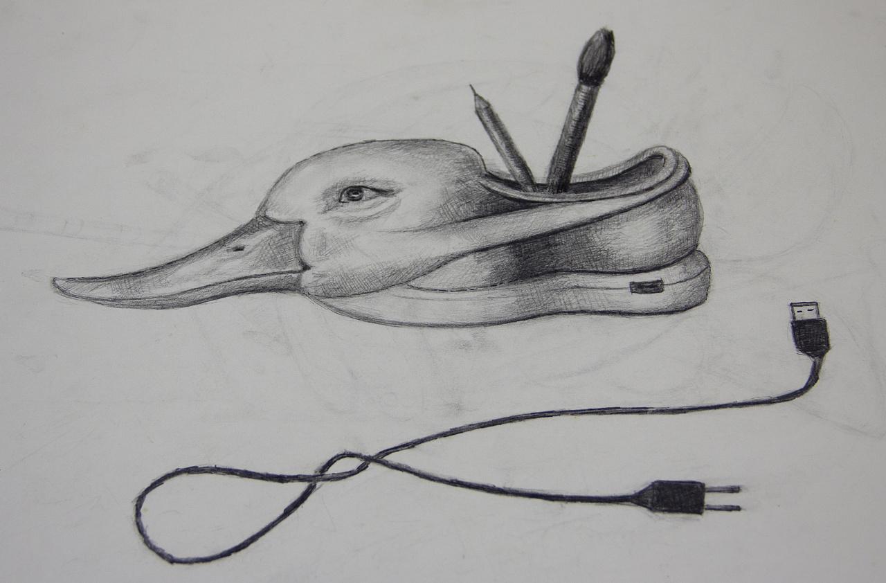 耳机 素描 1280_842