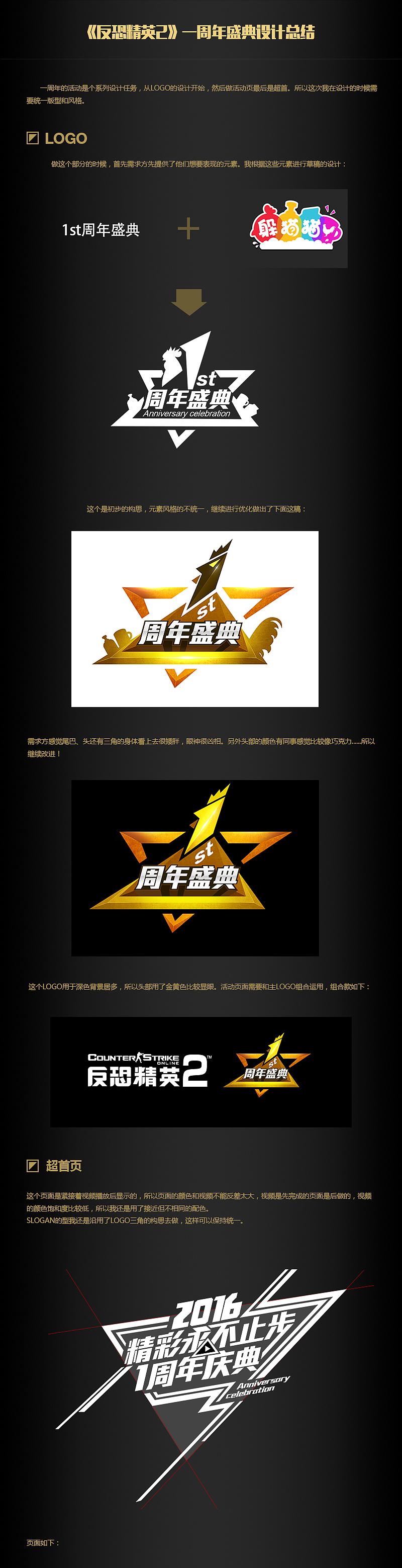 游戏满一周年做的系列活动,包括了logo,超图片